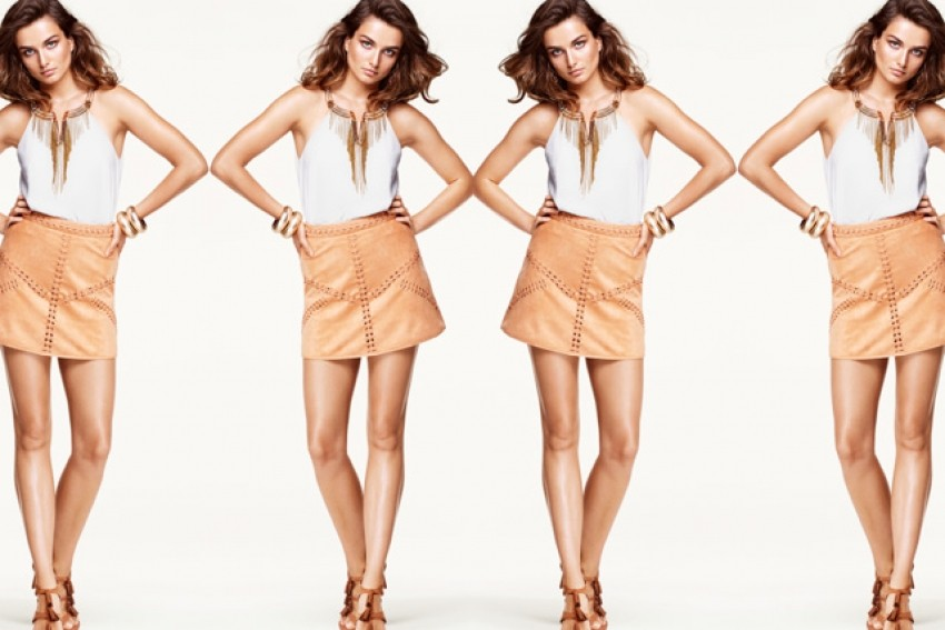 H&M Imitation Suede Skirt 349KN