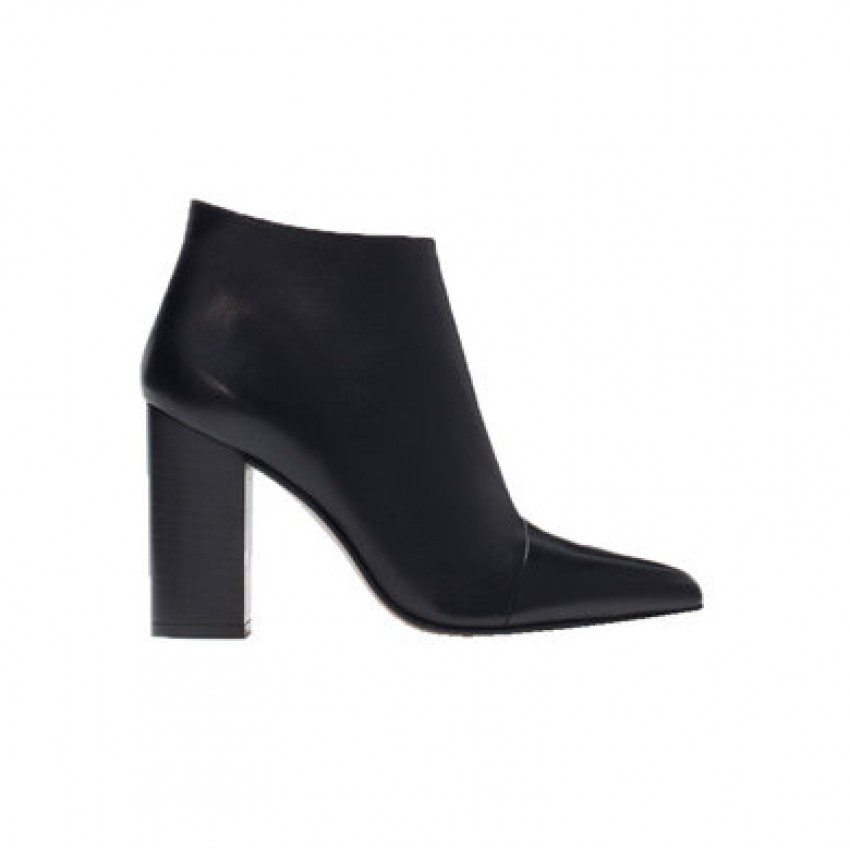 Zara pointy high-heeled leather boot