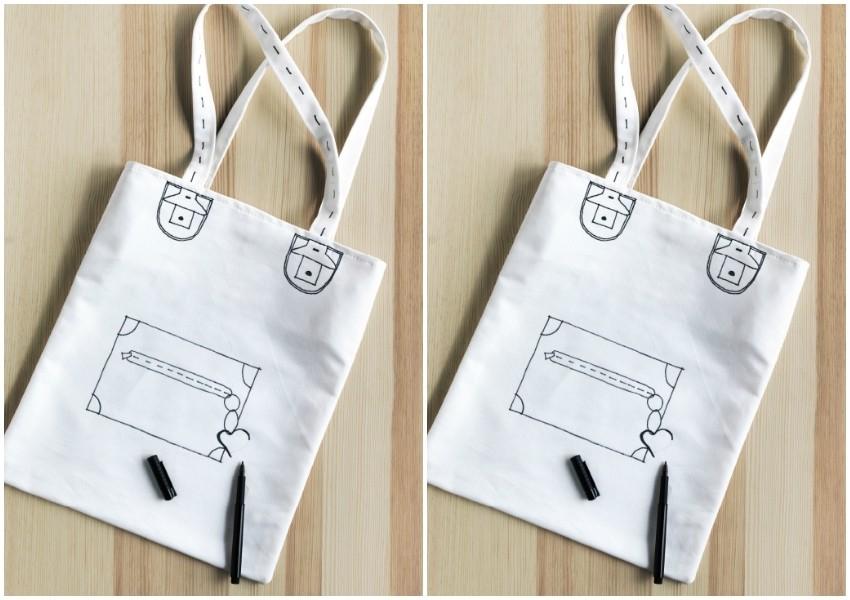Oslikana platnena torba