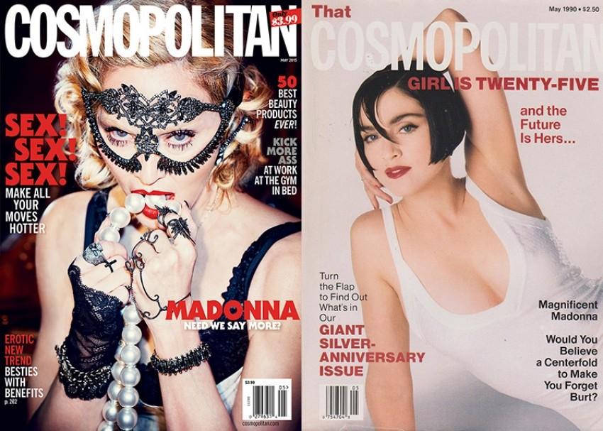 Madonna na naslovnici Cosma 2015. i 1990.