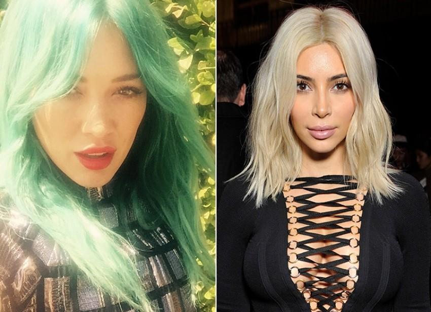 Hilary Duff/Kim Kardashian (Instagram)