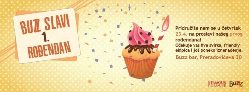 Buzz Bar slavi svoj prvi rođendan velikim partyjem