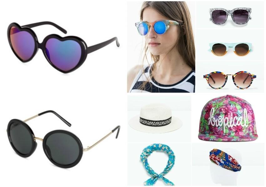 Lijevo naočale H&M, desno sve Zara osim šilterice H&M