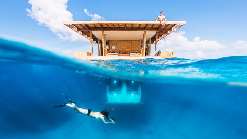 The Manta Resort' s underwater room of Pemba Island, Tanzanija