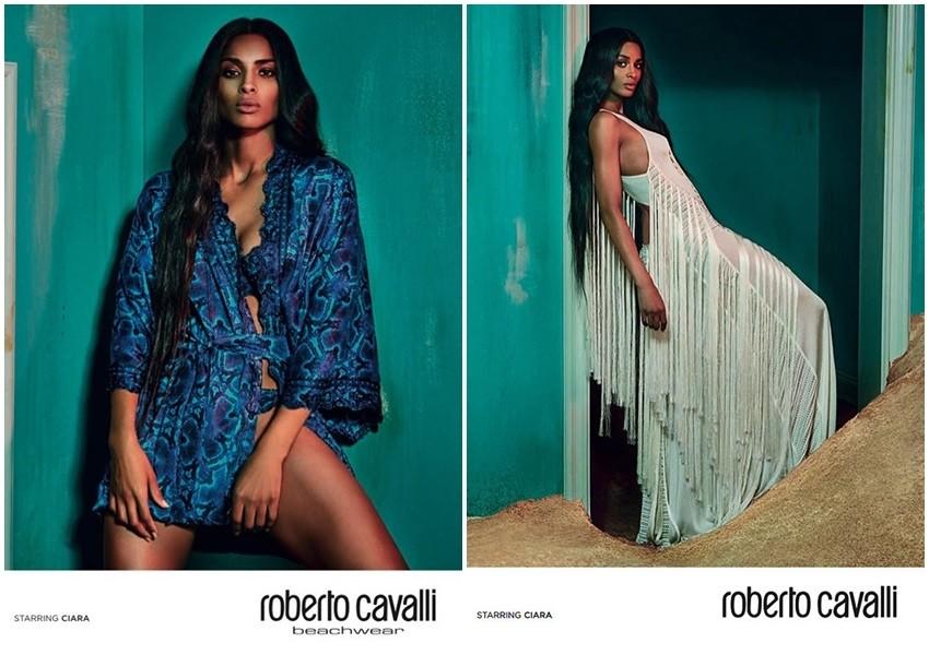 Ciara zasjala u haljinama Roberta Cavallija