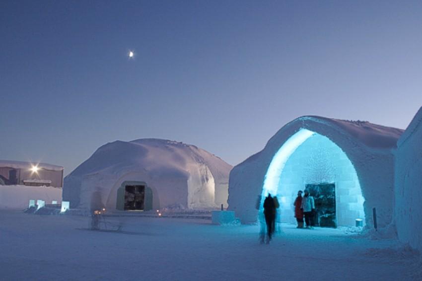 Ice Hotel in Jukkasjarvi, Švedska