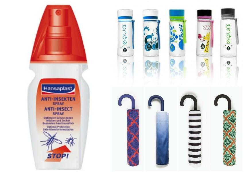 Sredstvo protiv komaraca, EQUA boca za vodu, Zara sklopljivi kišobrani