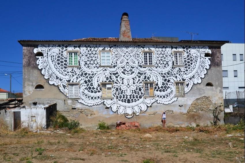 Grad prekriven čipkom: Street art kojega želimo i u Zagrebu!