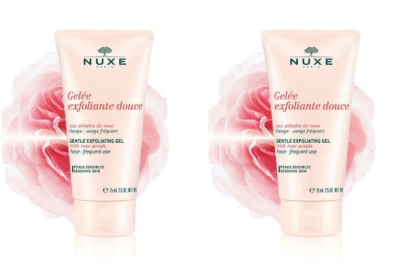 NUXE Nježni gel-piling za lice s laticama ruže