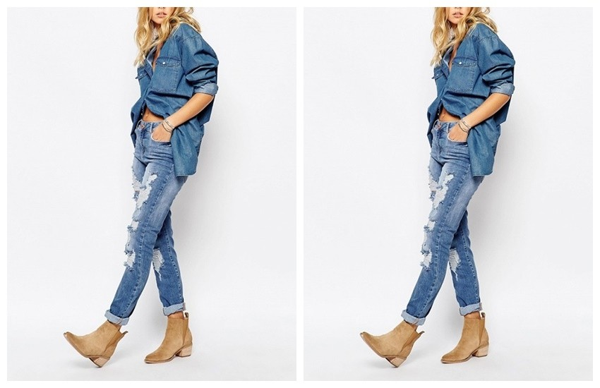 Noisy May Kim Loose Boyfriend Jean With Destroyed Detail ($100)
