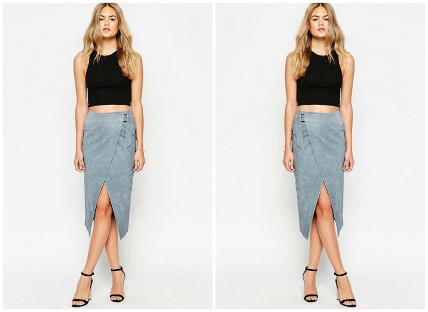 ASOS Wrap Pencil Skirt ($127)