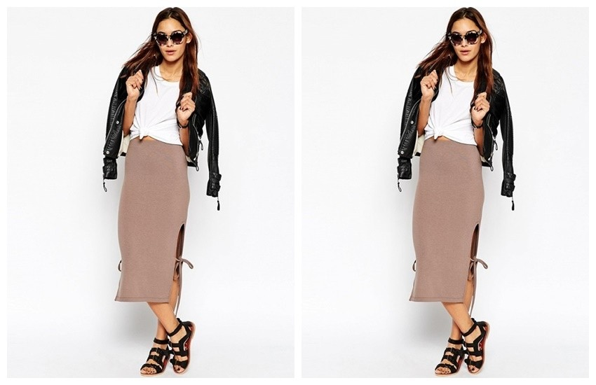 ASOS Midi Skirt With Open Tie Sides ($25)