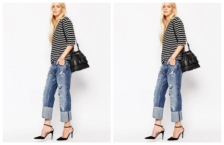 MiH Jeans Phoebe Boyfriend Jeans With All Over Rips ($463)