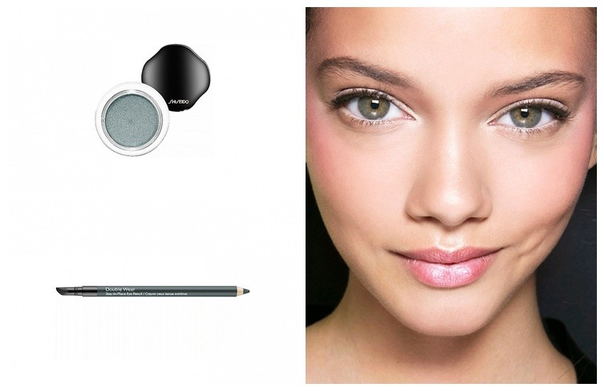 "Za sive oči: Estée Lauder Double Wear Stay-In-Place Eye Pencil u nijansi ""Smoke"" i Shiseido Shimmering Cream Eye Color u nijansi ""Tin"""