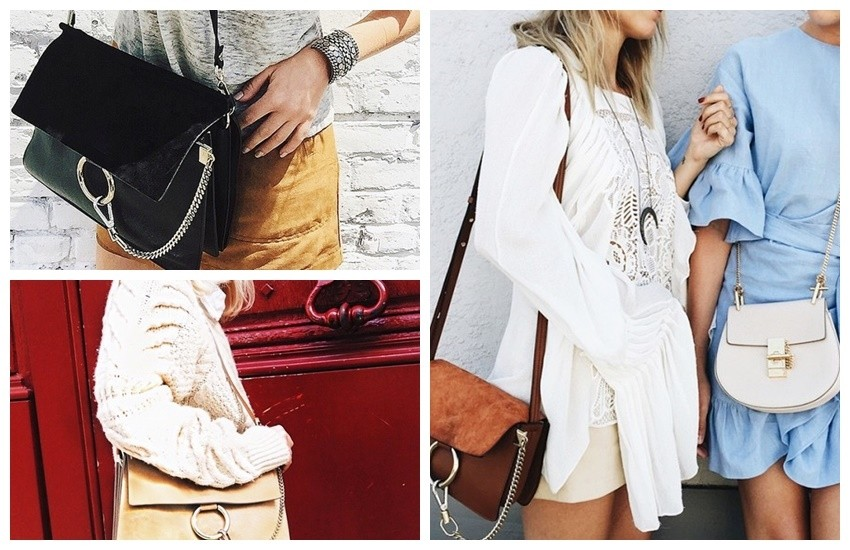 Chloé Faye Leather and Suede Shoulder Bag ($1716)