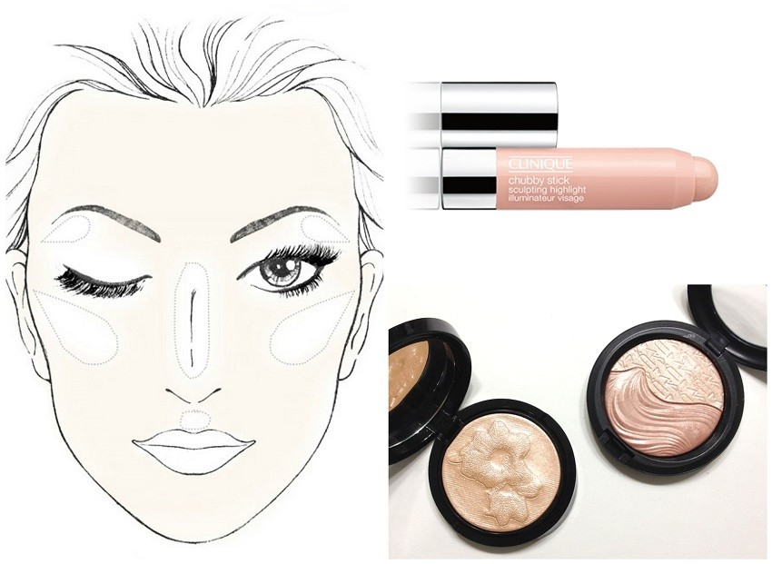 "Strobing: Clinique Chubby Stick Sculpting Highlight ili Giorgio Armani Highlight ""BellaDonna"""