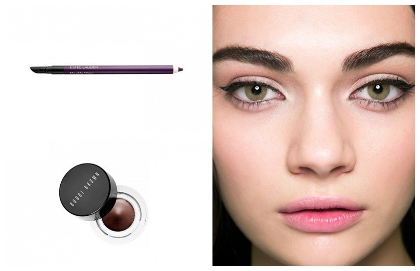 "Za zelene oči: Estée Lauder Double Wear Stay-In-Place Eye Pencil u nijansi ""Night Violet"" i Bobbi Brown Long-Wear Gel Eyeliner u nijansi  ""Chocolate Shimmer Ink"""