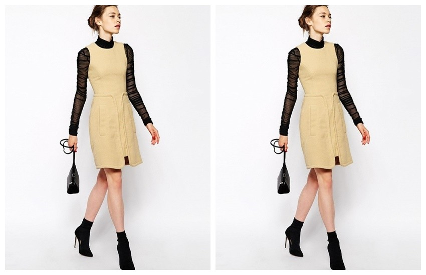ASOS Antipodium Perpetua Dress in Fleece ($130)