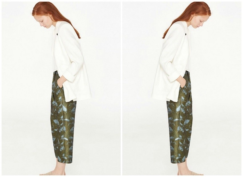 Mango Floral Wrap Trousers ($50)