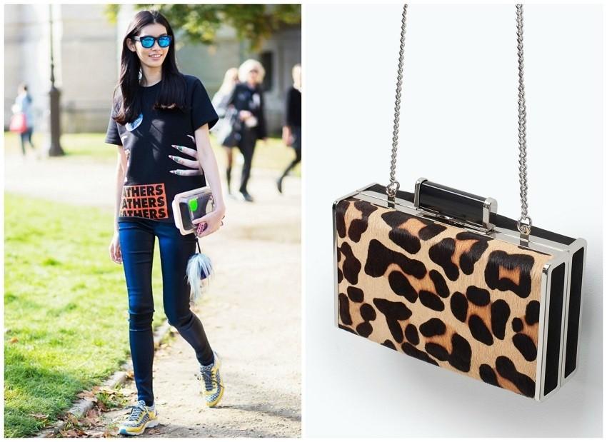 Style du Monde / Zara Leopard Clutch Bag