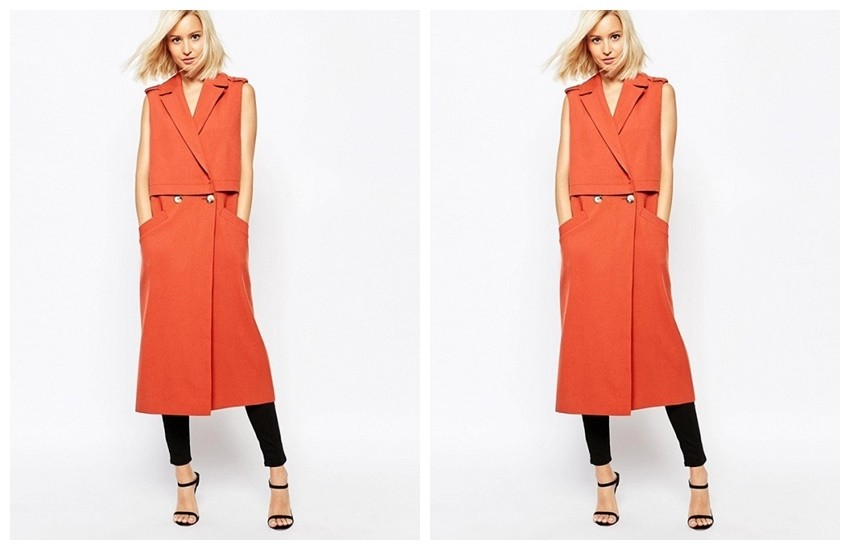 River Island Sleeveless Trench Coat ($136)