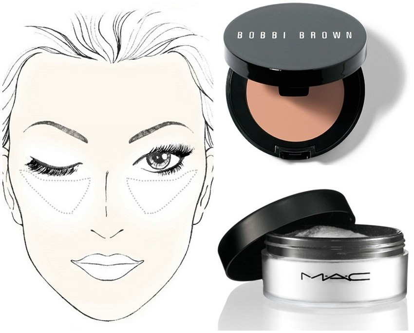 Baking: Bobbi Brown Corrector i MAC Translucent Powder