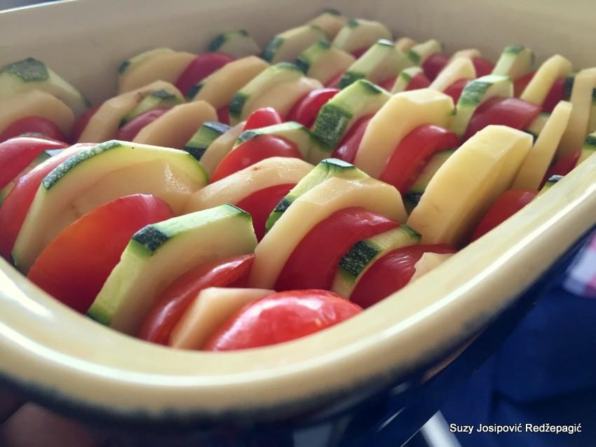 Zapečeno povrće sa sirom