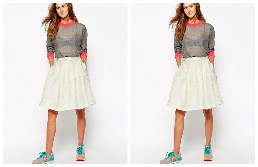 Paul & Joe Sister Full Skirt With Metallic Overlay ($189)