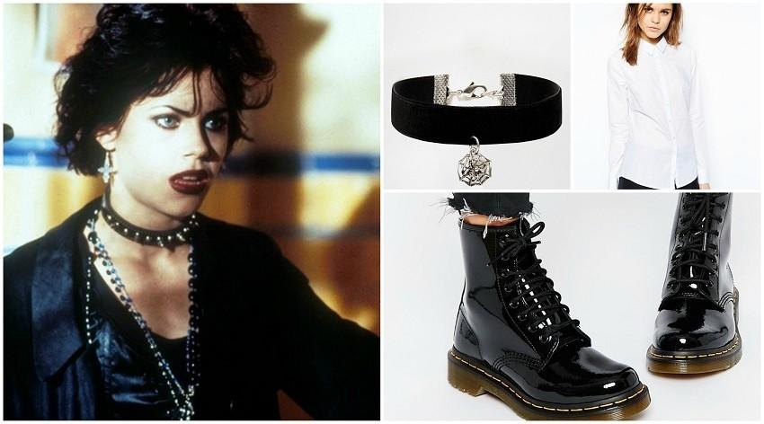 Nancy Downs - čizme Dr.Martens, košulja ASOS, choker ogrlica ASOS