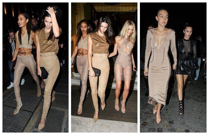 Joan Smalls, Kendall Jenner, Lily Donaldson, Gigi i Bella Hadid