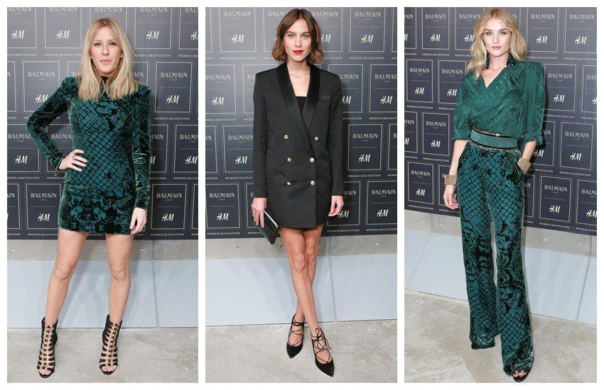 Elie Goulding, Alexa Chung, Rosie Huntington-Whiteley