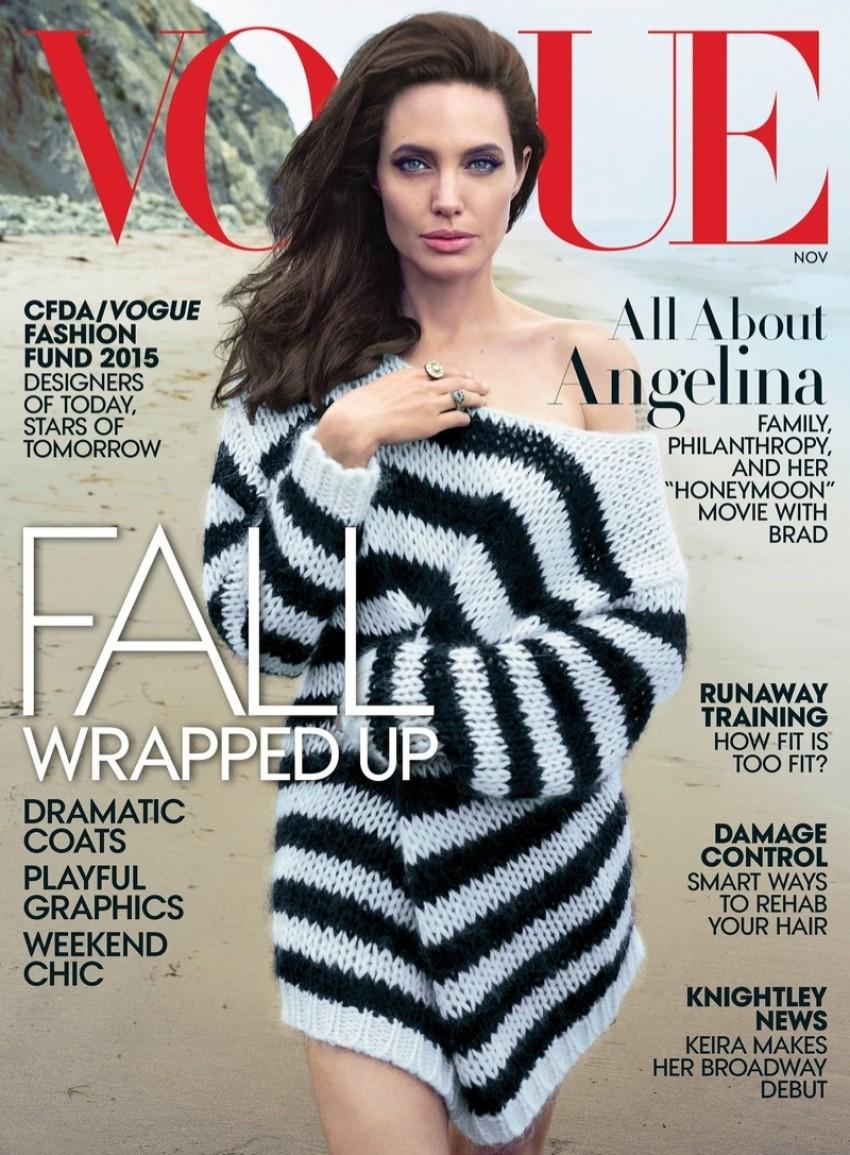 Angelina Jolie na naslovnici Voguea
