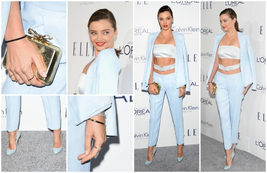 Miranda je outfit upotpunila jednostavnim nakitom i clutch torbicom te cipelama s potpisom Louboutina