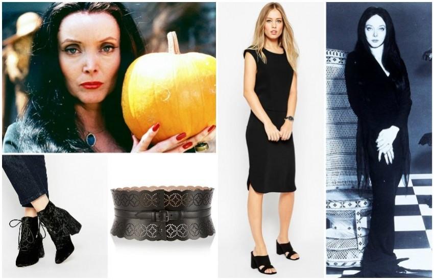 Morticia Addams - haljina i cipele ASOS, remen Alaia