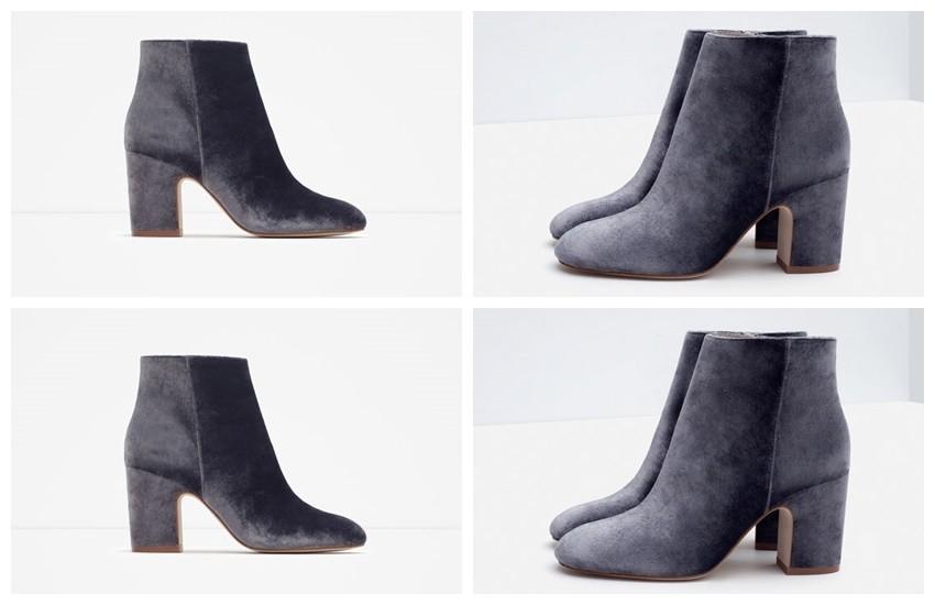 Zara High Heel Velvet Ankle Boots (499,90 HRK)