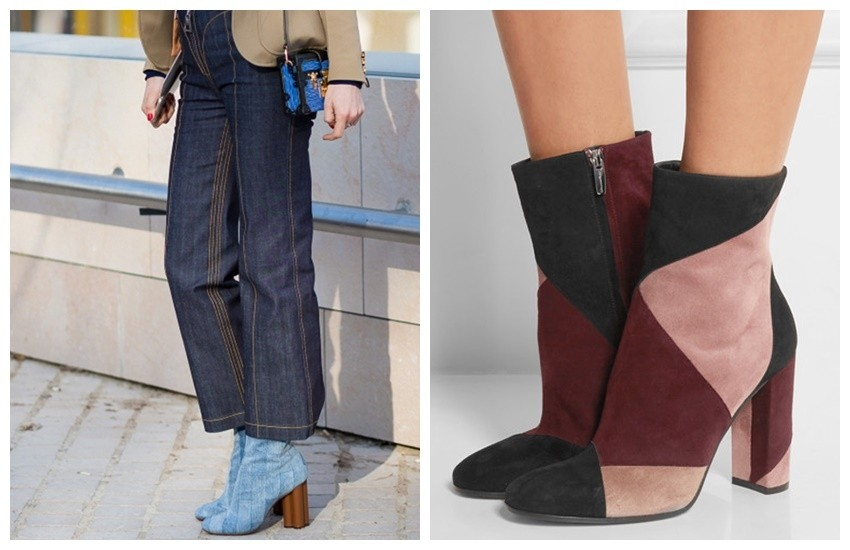 Style Du Monde / Gianvito Rossi Patchwork Suede Ankle Boots ($1160)