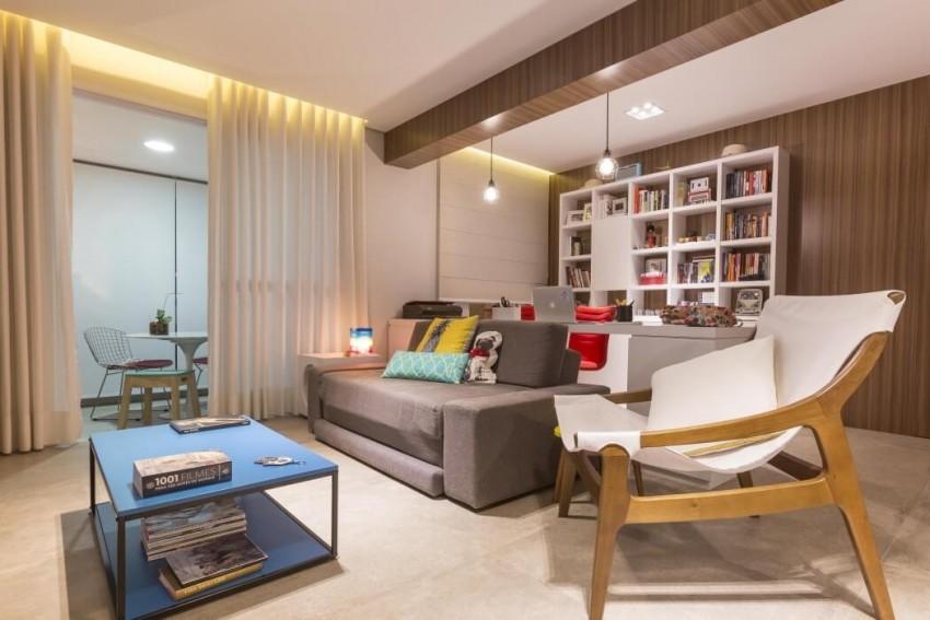 Mali stan dizajniran tako da pomoću skrivenih prostora izgleda veće