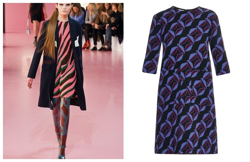 Dior Runway / MARNI Floral-print wool-cady dress