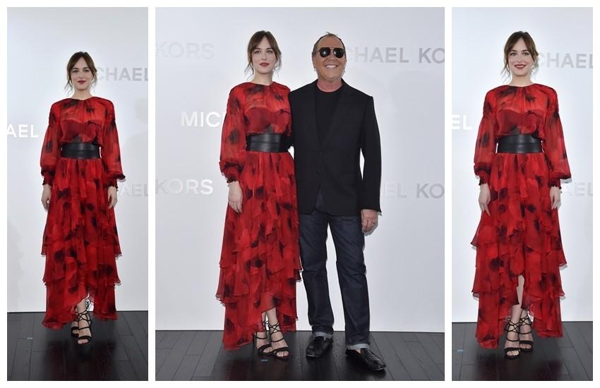 Dakota Johnson na otvaranju  Michael Kors Ginza trgovine u Japanu