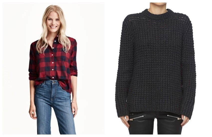 H&M Cotton Shirt   / Anine Bing Knitted Sweater
