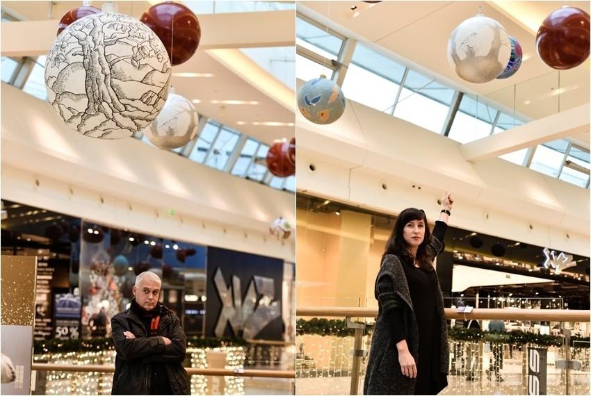 Umjetnička instalacija najpoznatijih domaćih umjetnika u Arena Centru povodom Božića