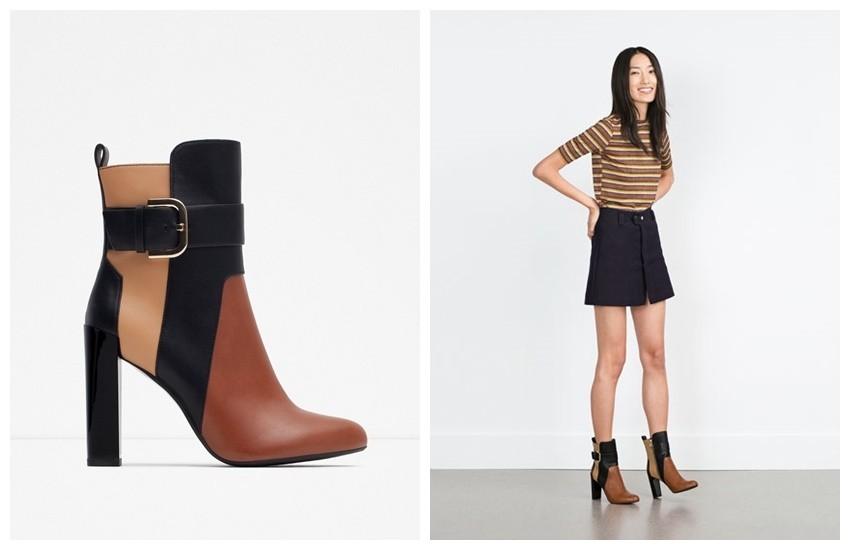 Zara Tricolor Booties (499.90 HRK)