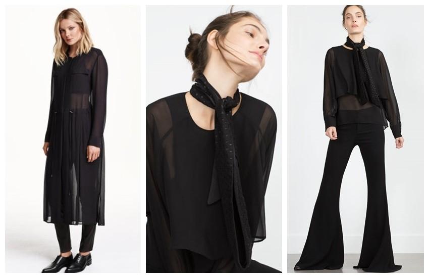 H&M Long Shirt Dress / Zara Double Layer Blouse
