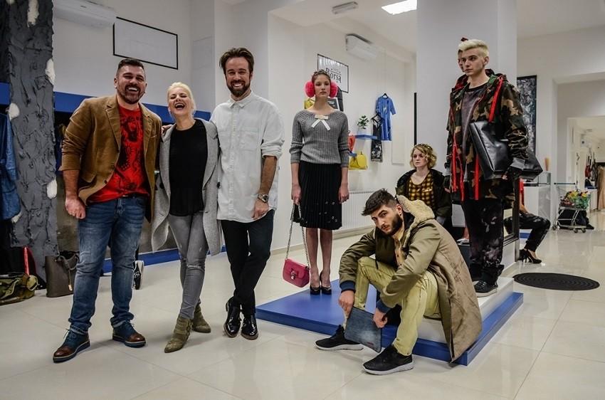Slobodan Velicki, Ana Begić, Robert Sever i modeli  nove Sever kolekcije