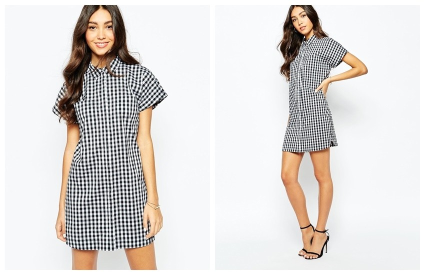 ASOS Oasis Gingham Shirt Dress  $36.00