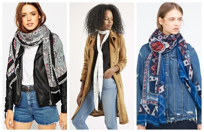 ASOS Oversized Scarf In Paisley With Crochet Trim €11.76, Topshop Super Skinny Star Print Scarf $8.00, Zara SPECIAL PRICE BASIC FLORAL PRINT SCARF 129.90 HRK