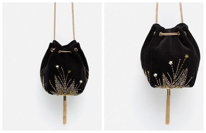 Zara VELVET EVENING BUCKET BAG 299.90 HRK