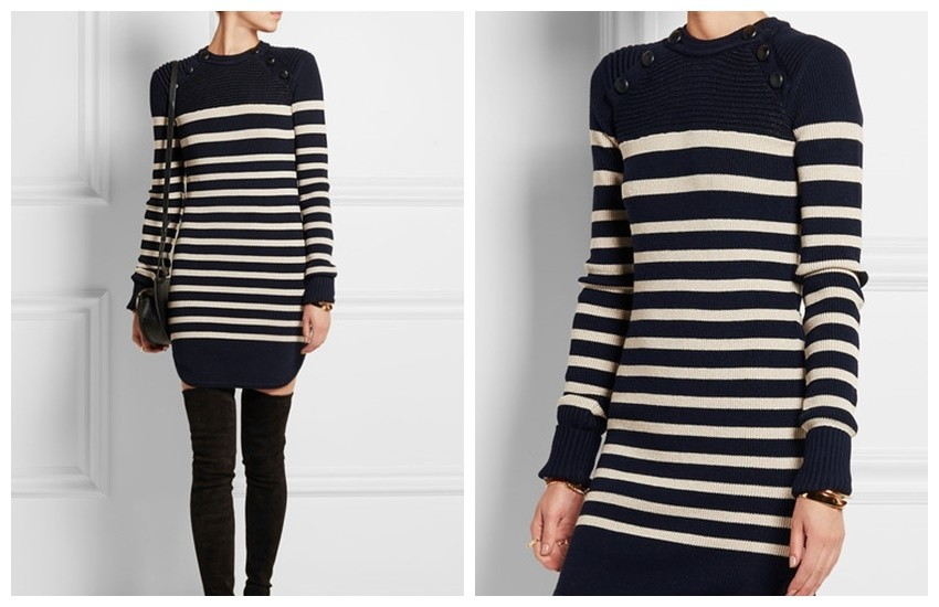 ISABEL MARANT Haeza striped merino wool-blend mini sweater dress£620