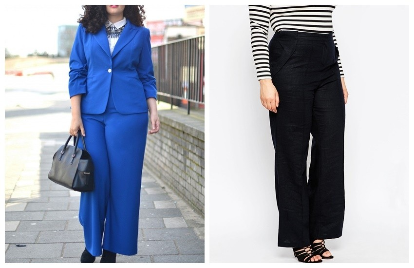 ASOS CURVE Linen Pants with Wide Leg  $22.50
