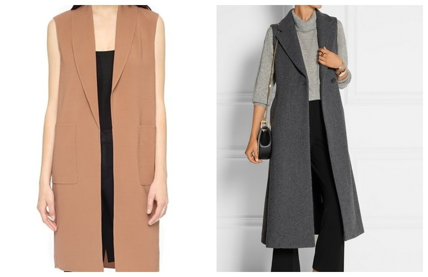 Alexander Wang Long Vest ($795) / Theory Tremayah Wool-Blend Gilet ($625)